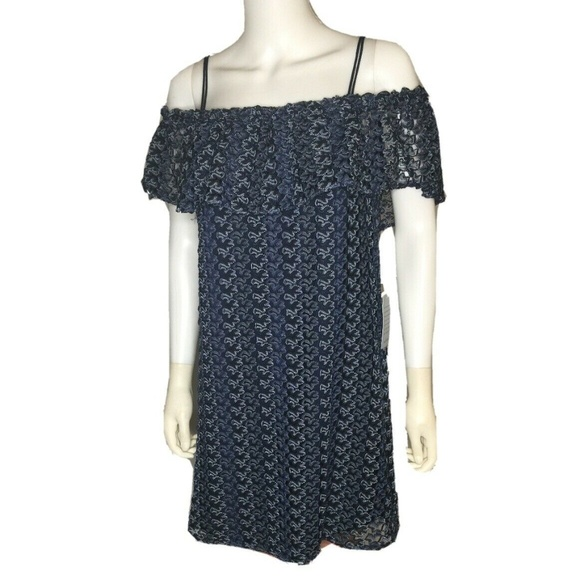 GREYLIN Dresses & Skirts - GREYLIN Nordstrom Blue Lace Off Shoulder Dress NWT